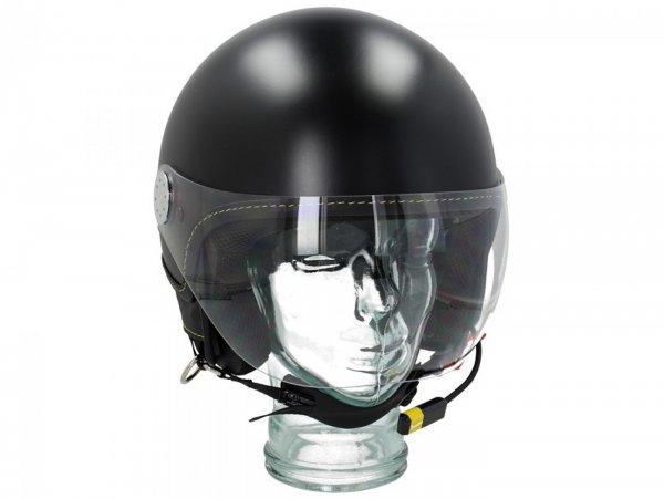 "Helmet -VESPA Visor BT ""Super Tech""- nero vulcano (98/A) - XS (52-54cm)"