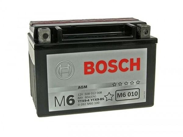 Batería -BOSCH YTX9-BS- 12V 8Ah -150x87x105mm - (sin mantenimiento)