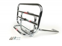 Rear rack, fold down -FACO- Vespa GTS 125-300, GTV - chrome