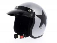 Helmet -BANDIT Star Jet- silver - S (55-56cm)