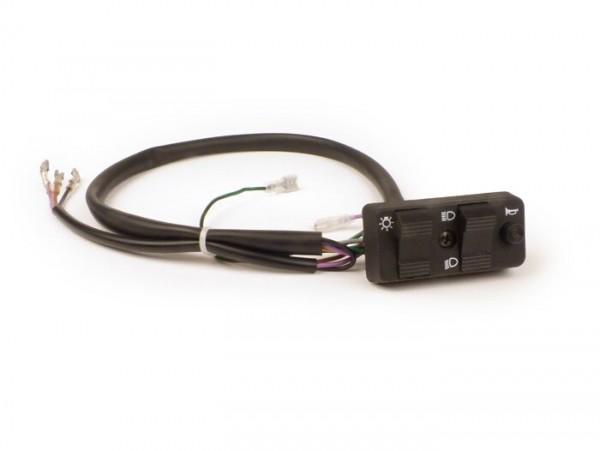 Lichtschalter -BGM PRO- Vespa PK S Lusso, PK XL, Vespa PX (1984-1998) - 9 Kabel (DC, Modelle ohne Batterie, mit Hupengleichrichter, Schliesser)