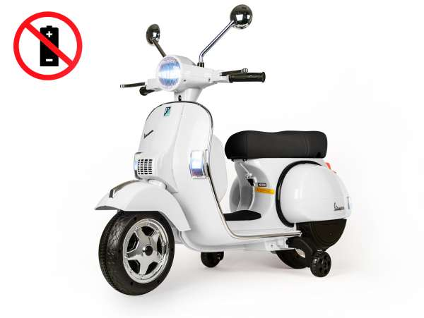 Scooter for kids -Vespa PX150- electric (supplied without battery) - white