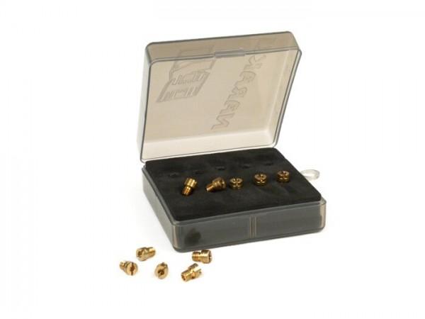 Hauptdüsenset -NARAKU 4mm für KEIHIN TAIKEI (Typ: 99101-116) CVK- (80-98) - (80-82-84-86-88-90-92-94-96-98) - LML 125-200 4T (Keihin PB20)