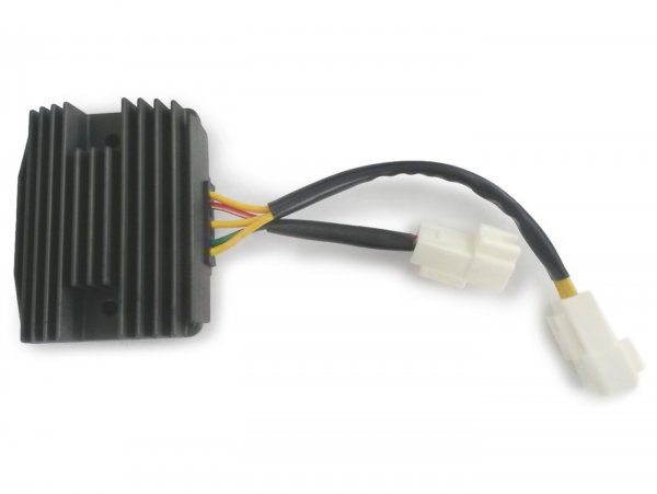 Spannungsregler (2 Multistecker, 5 Kabel, 3x gelb ,1x rot , 1x grün) -PIAGGIO- Vespa GTS 250 (ZAPM45100), Vespa GTS 300 (ZAPM45200, ZAPM45202, ZAPMA3300), Vespa GTS HPE 300 (ZAPMA3600, ZAPMD310), Vespa GTS Super 125 (ZAPM45300, ZAPM45301), Vespa GTS