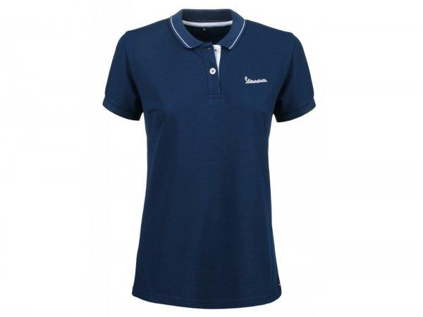 "Polo-shirt, Damen -VESPA ""Graphic"", blau- S"