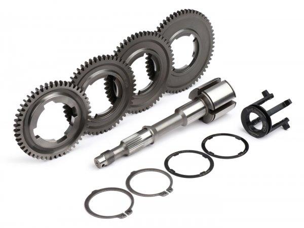 Gearbox -BENELLI type road,  serial gearing- Vespa V50, V90, 50N, PV125, ET3, SS50, SS90, PK S, PK XL1, PK XL2, ETS - (10/58, 14/54, 18/38, 22/46 teeth)