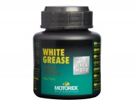 Lithium grease -MOTOREX White Grease- 100g - water resistant grease for steering bearing, gear change grip, throttle tube, centre stand, swinging arm bearing