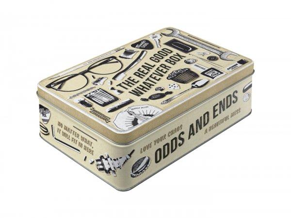 "Vorratsdose, flach -Nostalgic Art- ""Whatever Odds & Ends Box"" - 23x16x7cm (2.5l)"
