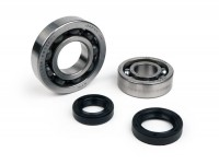 Bearing and oil seal set crankshaft -BGM ORIGINAL- Piaggio 50cc 4-stroke (-2004)