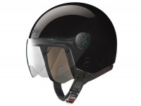 Helmet -FM-HELMETS RS21 (Made in Italy)- open face helmet black - XS (53-54cm)