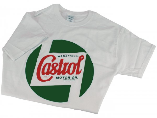 T-Shirt -CASTROL, Classic- weiß - S