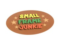 "Adesivo –70x50mm- ""Small Frame Junkie"""
