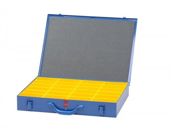 Sortierkasten -HÜNERSDORFF, Metall (330x440x66mm)- 24 Fächer, blau, pulverbeschichtetem Stahlblech