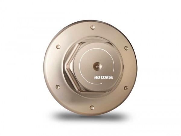 Tapón aceite -HD CORSE aluminio CNC- todos los modelos Piaggio Leader 125-200cc, LEM 125-150cc, HE 125-150cc, IGET 125-150cc, Quasar/HPE 250-300cc, Master 400-500cc - bronce