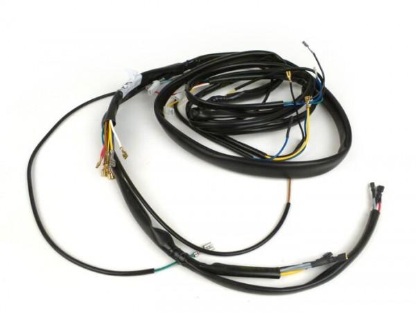 Kabelbaum -GRABOR- Vespa PX alt (Italien), 1981-1983, mit Spannungsregler, mit Blinker, ohne Batterie, Hupe AC (Schnarre), Zündgrundplatte mit 3-Kabel