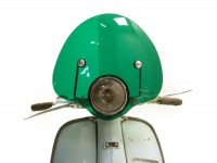 Screen -AMS CUPPINI Bubble- Lambretta LI (Serie 3) - medium-sized, with bracket -