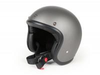 Helmet -DMD Jet Vintage- open face helmet, vintage - Matt Grey - XL (60-62cm)