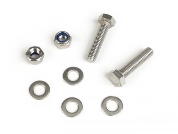 Center stand fastener kit -MB DEVELOPMENTS stainless steel- Lambretta LI (Series 2-3, since 10.1959), LIS, SX, TV (Series 2-3, since 10.1959), DL, GP