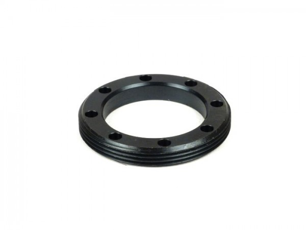 Brida roscada de ocho agujeros para rodamiento rueda trasera -VESPA Ø int.=35mm, M52x1,5mm- Vespa Wideframe 125/150cc VM, VN, VL, VB, VGL, VD, GS150, Piaggio APE AB2T-4T, AC, APA, APB, AD, AE0