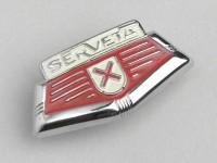 Badge horn cover -LAMBRETTA- Serveta emblem - Serveta (series 2-3)