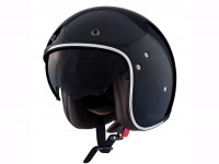 Helmet -SHIRO SH235 Fiber, open face helmet- black - XL (61-62cm)