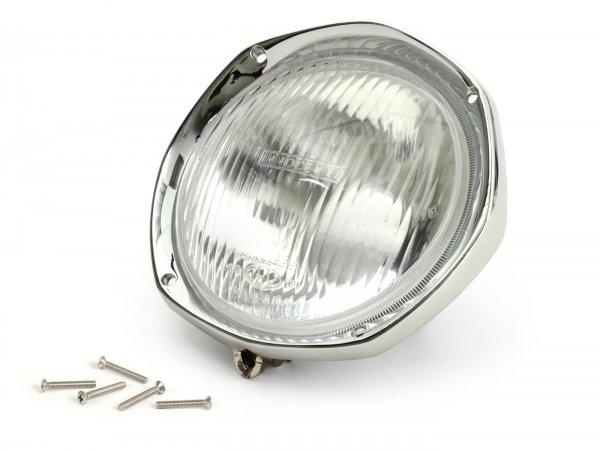 Scheinwerfer komplett inkl. Zierring -CASA LAMBRETTA- Lambretta SX, LI S, TV Serie 3 (Innocenti/CEV - Glas)