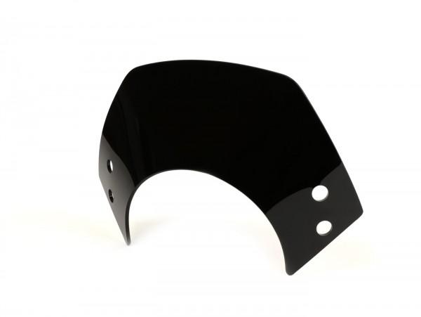Windschutzscheibe ohne Halter -MOTO NOSTRA, b=340mm, h=105mm- Vespa GT, GTL, GTS, GTS Super 125-300ccm - schwarz