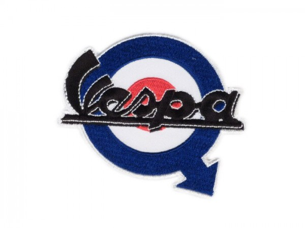 Patch thermocollant -VESPA target arrow- bleu/rouge/blanc - Ø=67mm