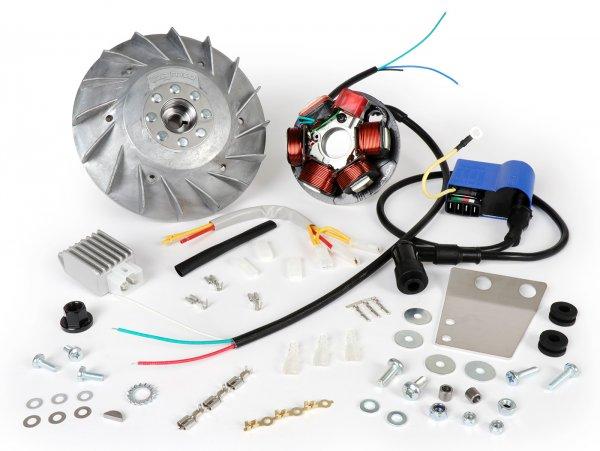 Zündung-Set -BGM PRO 12V Touring- Vespa Smallframe V50, 50N, V90, PV, ET3, PK S - 1600g - verwendet zur Umrüstung auf elektronische Zündung