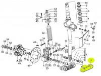 Fork link cover -PIAGGIO, straight fork link- Vespa GT, GT 60, GT L, GTS 125-300, GTS 125-300 i.e. Super (-2014, 2016-), GTV, LT, LX, LXV, Primavera 50 (2017-), Primavera 125-150 (2016-), S, Sprint 50 (2017-), Sprint 125-150 (2016-), 946, ET2, ET4 -