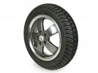 "Komplettrad Winterreifen -MICHELIN City Grip Winter M+S vorne 120/70 - 12 TL 58P rf.- Vespa GT, GTL, GTS 125-300, GTV - Modelle ohne ABS - Felge ""70 Jahre"" bicolor"