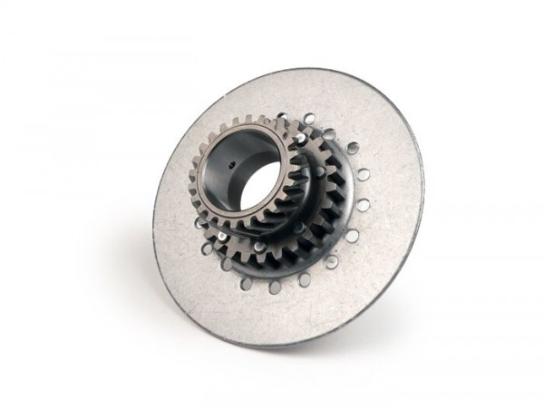 Clutch sprocket -DRT Vespa type 7 springs (Rally200, PX200, T5 125cc)- for genuine primary gear (helical) 65 tooth - 22 tooth