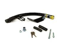 Steering lock -CLM Chic- Vespa V50, 50N, V90, PV, ET3, PK S, PK XL, PK XL2, PX, T5 125cc, Cosa, Sprint, GT, GTR, TS, Rally, Super, GS160, SS180, VNA, VNB, VBA, VBB, GL150 - anti-theft, mounting on handlebar
