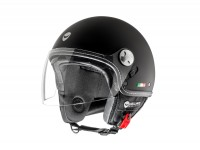 Helmet -HELMO MILANO- Demi jet, Eos, rubber black - L (58cm)