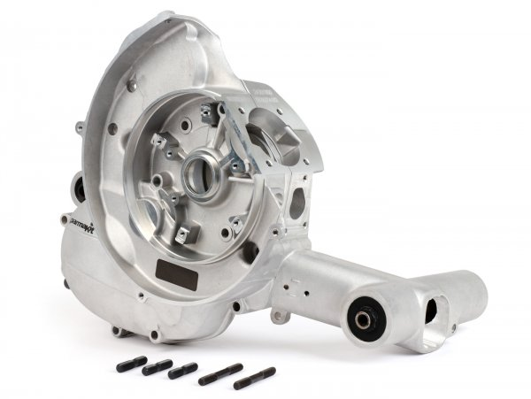 Motorgehäuse -PARMAKIT standard- Vespa V50, V90, PV, ET3, PK S, PK XL, Motovespa PK75, standard Überströmer - ohne E-Starter