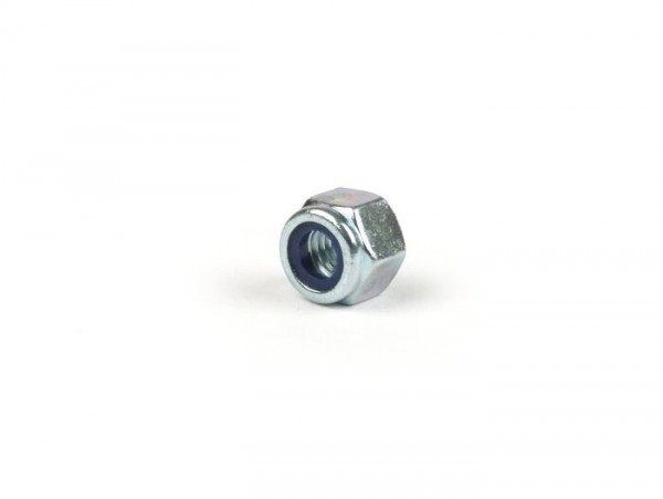 Self-locking nut high version -similar to DIN 985- M6 - used e.g. for fixing centre stand spring clip Vespa
