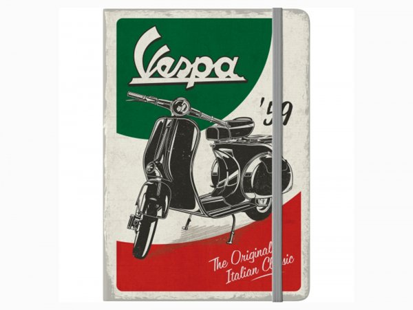 "Notepad -NOSTALGIC ART, A5- Vespa, ""The Italian Classic"""