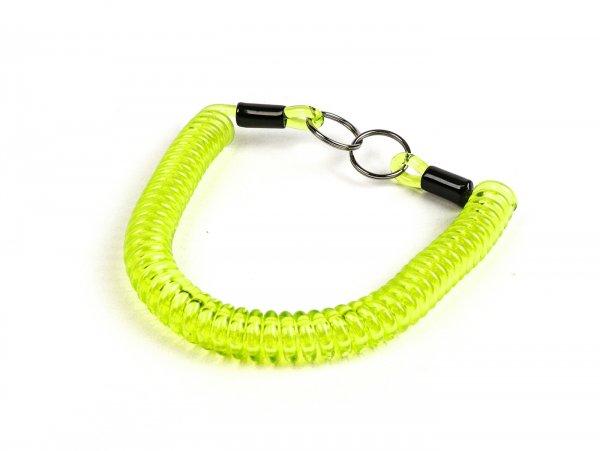 Key ring -MOTO NOSTRA Spiral- length 300mm - z.B. für Vespa Klassik (Verbindung zwischen Zündschloß im Lenkerdeckel und/oder Lenk-/Gepäckfachschloß bei PX alt, Rally, Sprint, ET3, Motovespa etc.) green