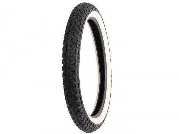 Neumático -Continental KKS 10, lateral blanco- 2.50-19 / 2 1/2-19 (marcado de tamaño antiguo 23x2.50) 45J TT reinforced
