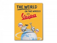 "Magnet für Kühlschrank -VESPA, 5x6cm- ""The world on two wheels with Vespa"""