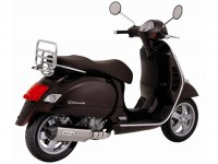 Exhaust -REMUS slip-on, models with carburettor- Vespa GTS 125 (-2009), GTS 250 (-2005), GTS 300 (-2008), GTV 250 (-2008), GT, GTL - stainless steel, silver