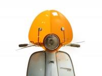 Pare-brise modèle haut -AMS CUPPINI Bubble- Lambretta LI (série 3) - hauteur réduite, avec support - orange