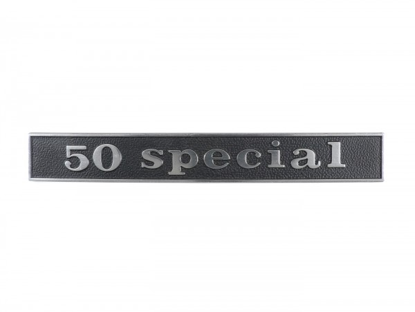 Badge frame rear -OEM QUALITY- Vespa 50 Special (rectangle) - Vespa 50 Special (since 1969)