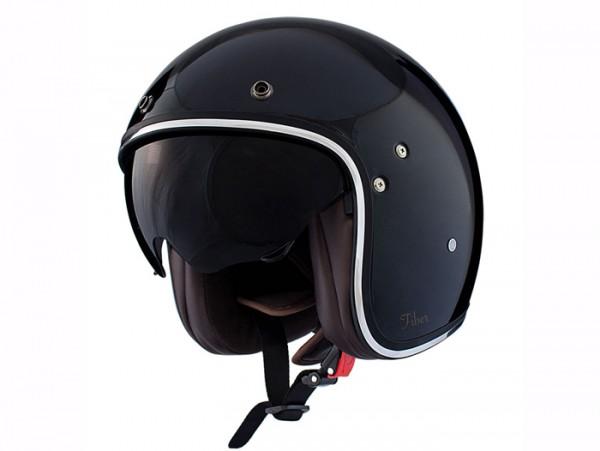 Helm -SHIRO SH235 Fiber, Jet-Helm- schwarz - L (59-60 cm)