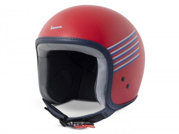 Helm -VESPA Jethelm Graphic- rot- XL (61-62 cm)