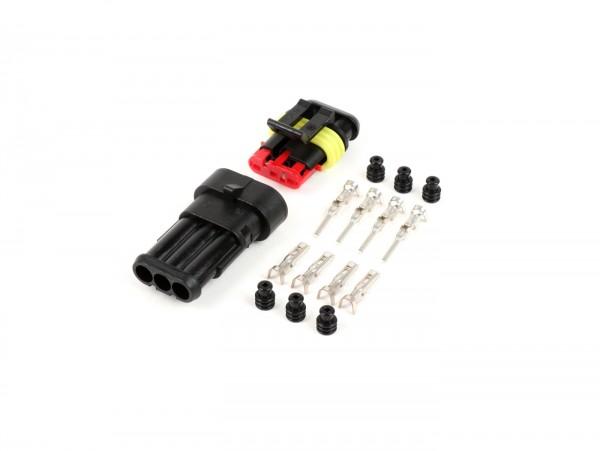 Kit mâle/femelle, cosses pour faisceau incl. -BGM PRO- type série 060 AM SpecialSeal, 0.85-1.25mm², étanche - 3 connecteurs