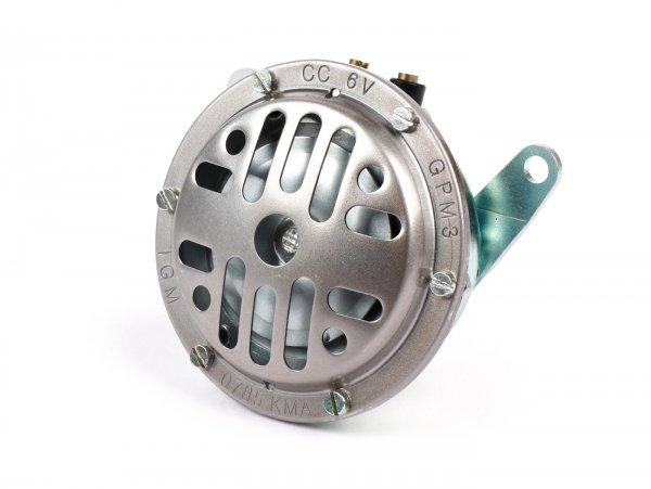Horn -GPM 6V/12V, Ø=85mm DC- Lambretta LI, LIS, SX, TV (series 2-3), DL, GP