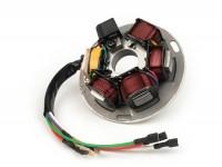 Zündung -BGM ORIGINAL Grundplatte- Vespa PX alt (mit Batterie 1982-1984) - 7 Kabel