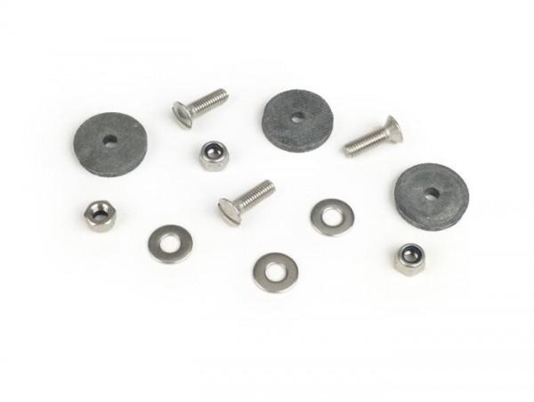 Licence plate support fastener kit -MB DEVELOPMENTS stainless steel- Lambretta LI (series 1-2), TV (series 1-2)