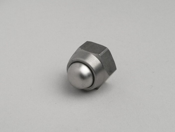 Domed cap nut -DIN 986- M12 x 1,50 (used for front axle Lambretta LI, LIS, SX, TV, DL, GP, J) - stainless steel